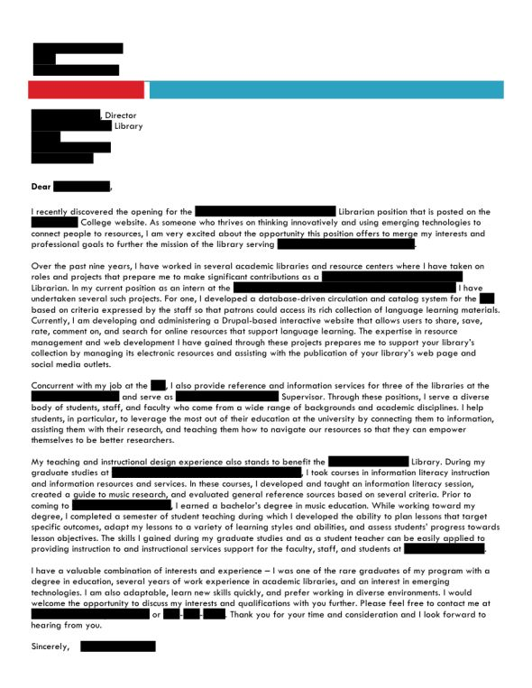Open Cover Letters | Open Cover Letters | Page 13