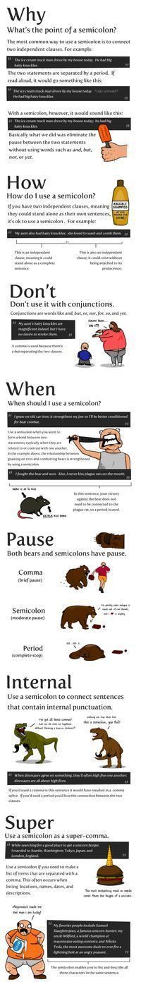Best 20+ How to use semicolon ideas on Pinterest | Use of ...