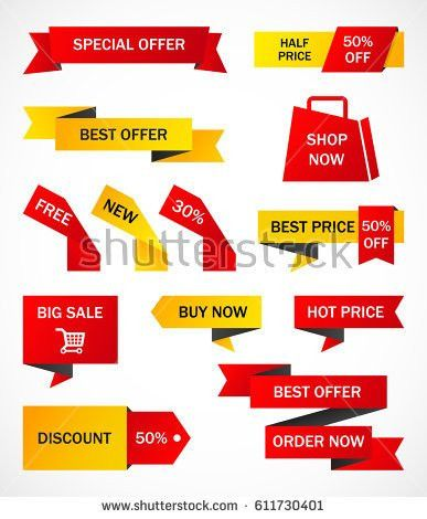 Vector Stickers Price Tag Banner Label Stock Vector 443660002 ...