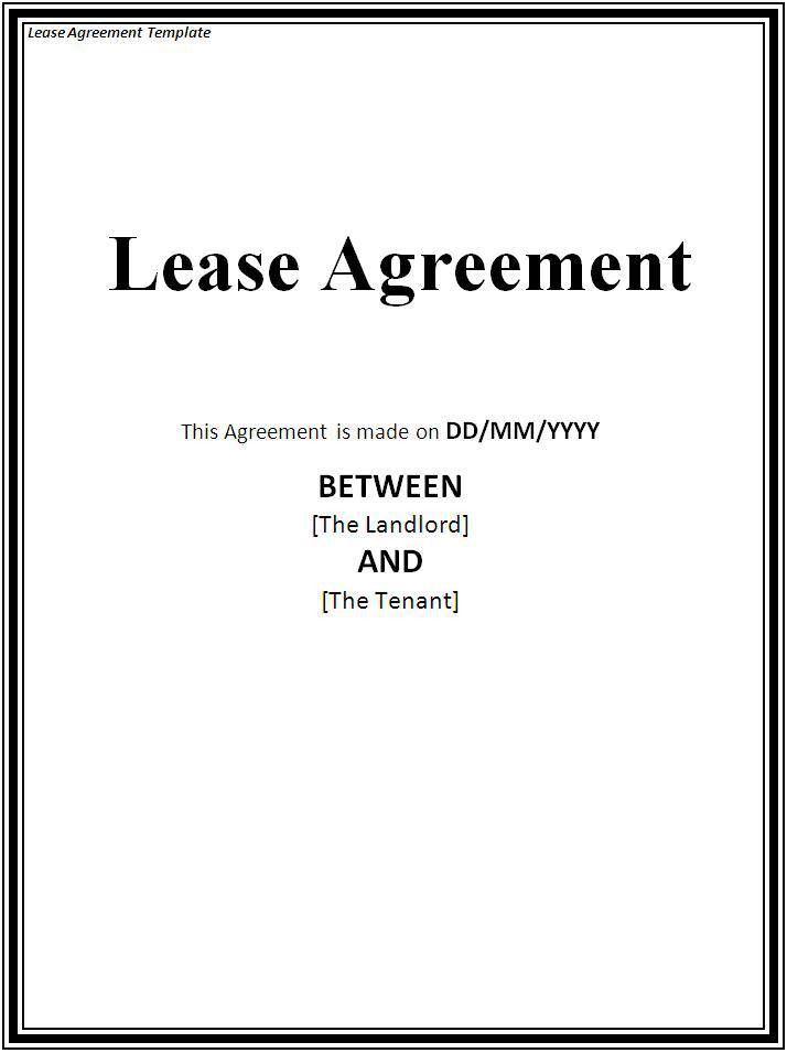 Sample Lease Agreement Archives - Fine Templates