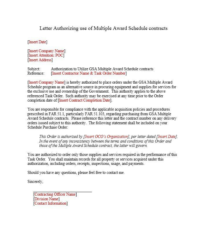 46 Free Authorization Letter Samples & Templates – Free Template ...