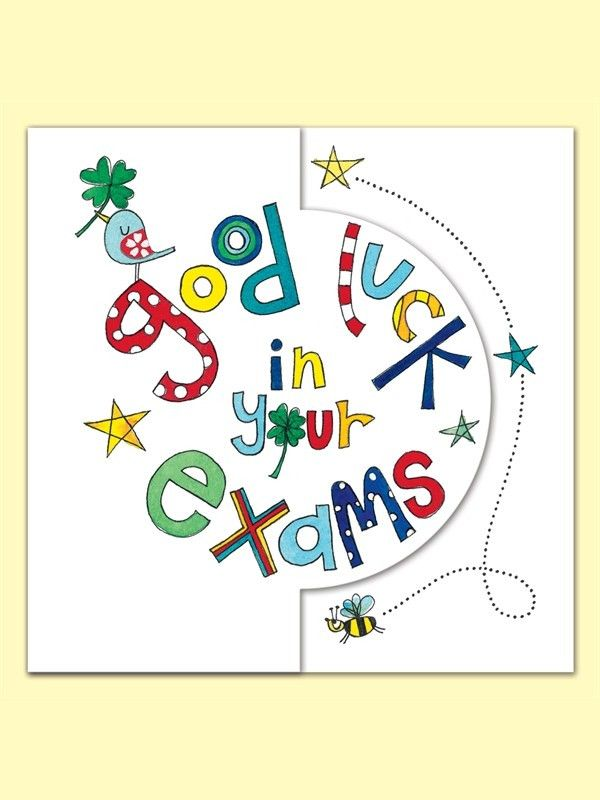 Good Luck in Your Exam Greeting Card by Rachel Ellen | Good luck ...