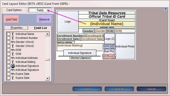 TDR User Forum • View topic - How do I adjust my ID cards font size?