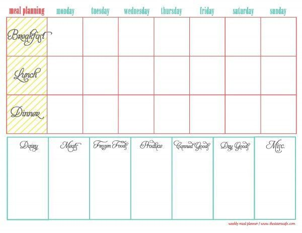 62 best Meal Planning Tools images on Pinterest | Kitchen, Recipes ...