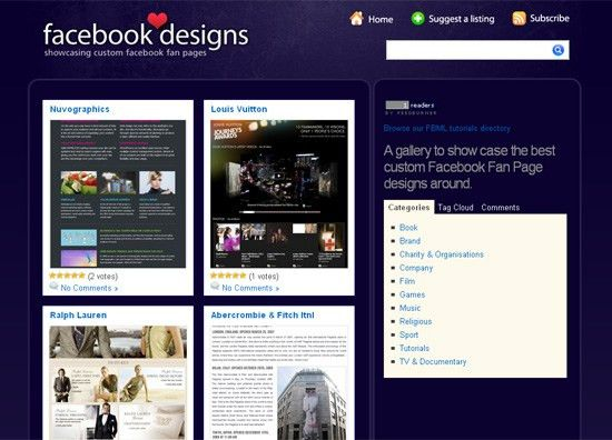 Designing A Facebook Fan Page: Showcases, Tutorials, Resources ...