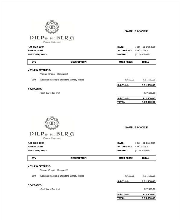 Cake Invoice Template - 5+ Free Word, PDF Documents Download ...