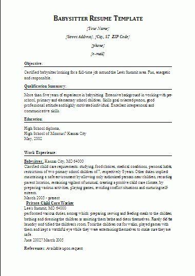 Bright And Modern Babysitter Resume 5 Best Babysitter Resume ...