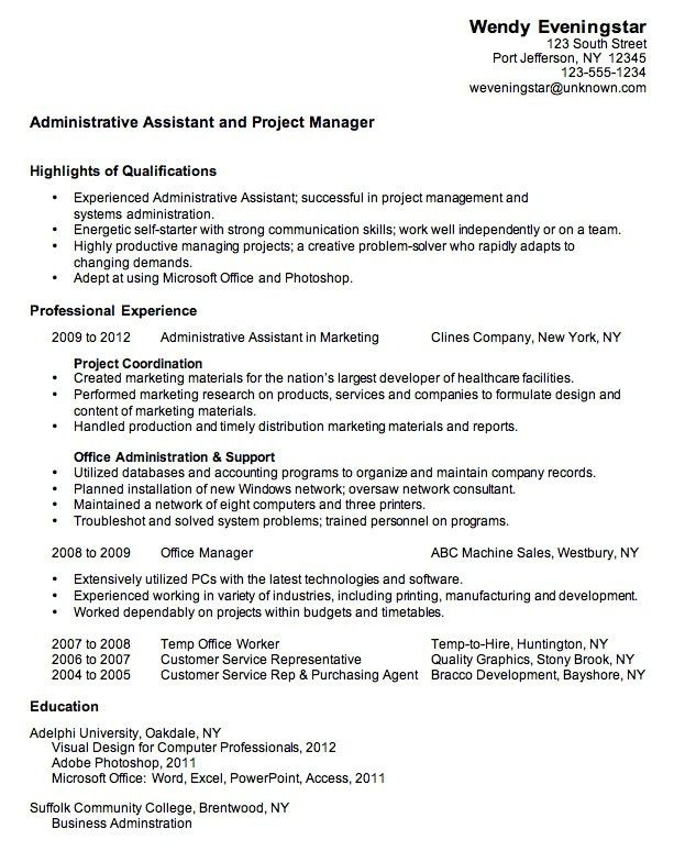Sample Resume Executive Assistant, best 20+ sample resume ideas on ...