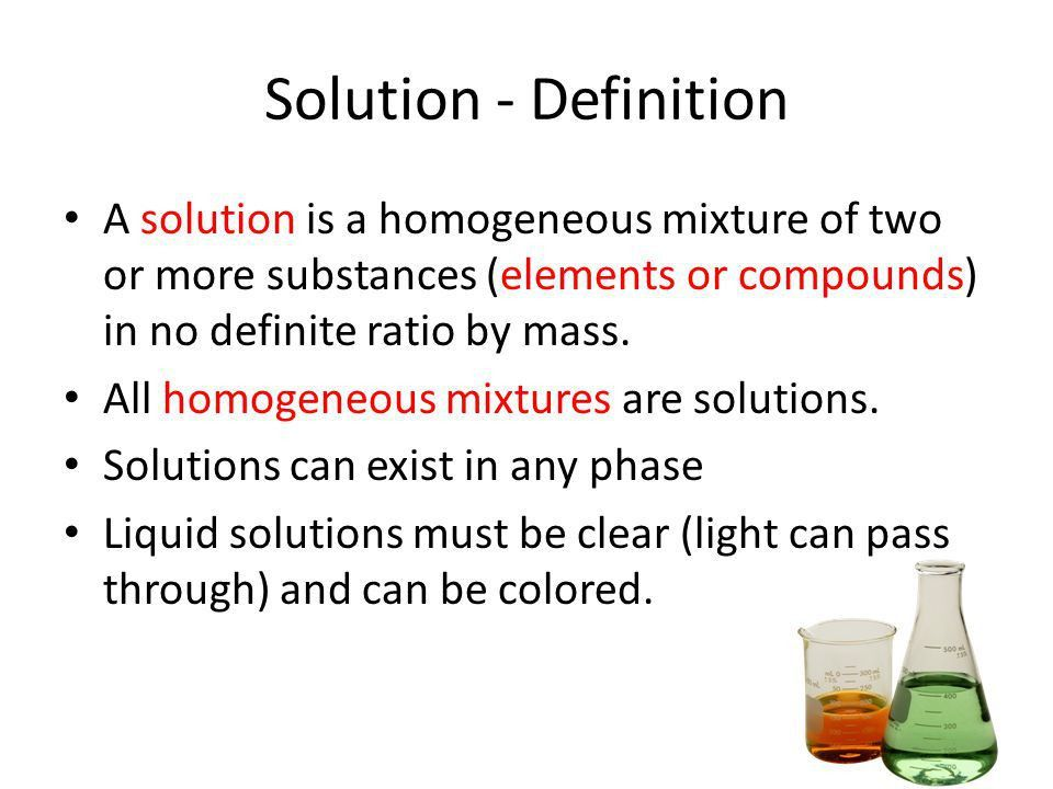 SOLUTIONS Homogeneous Mixtures. - ppt video online download