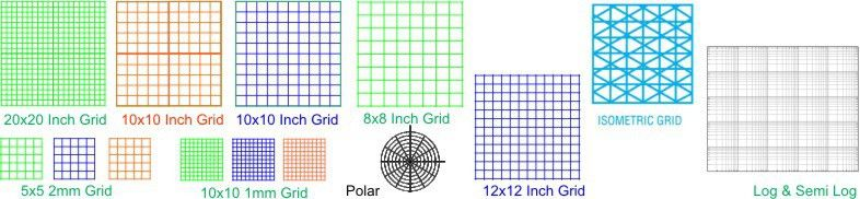K&E Graph Paper Metric & Inch Grid Engineering Graph Paper