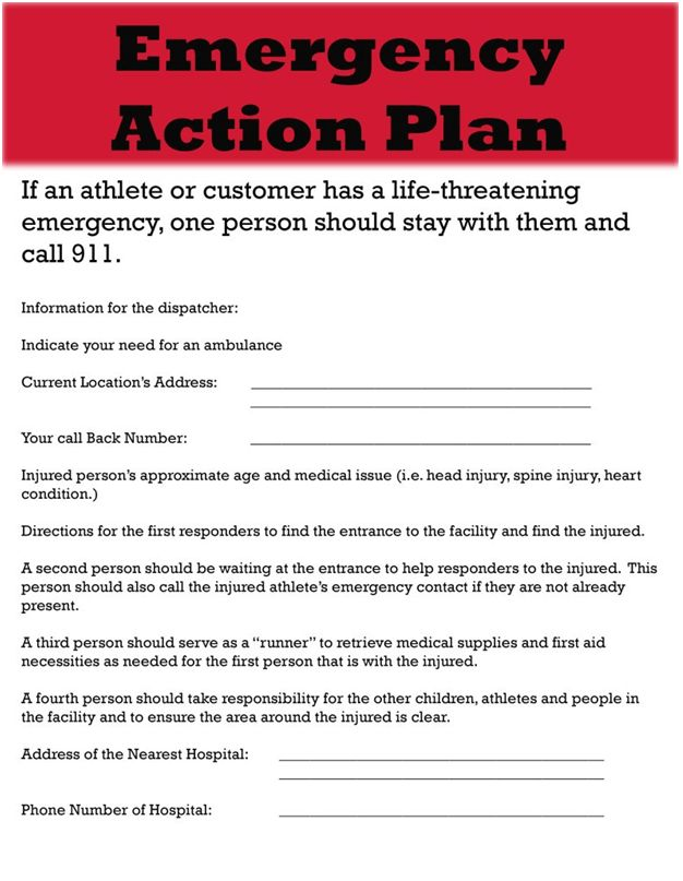 Sample Project Emergency Action Plan Template Doc | Excel Project ...
