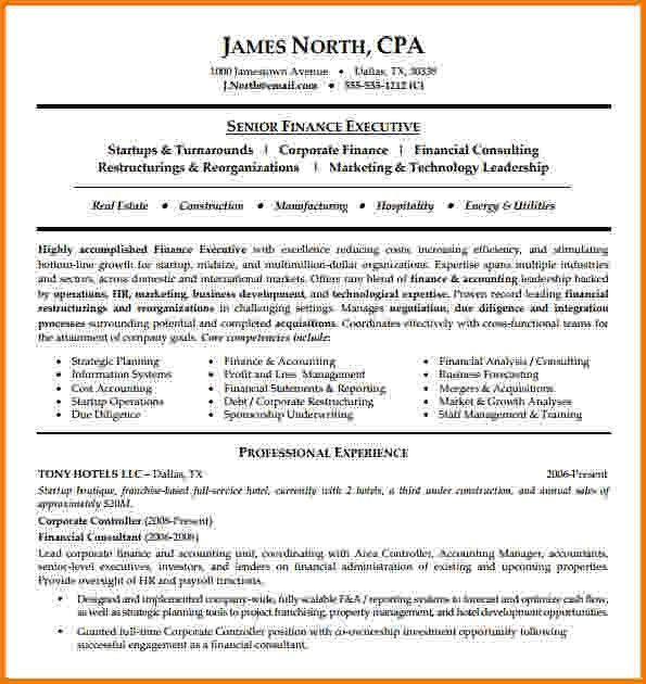 10+ financial consultant resume sample | Financial Statement Form