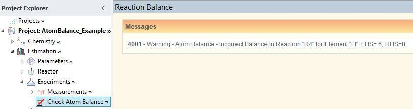 Example: Check Atom Balance