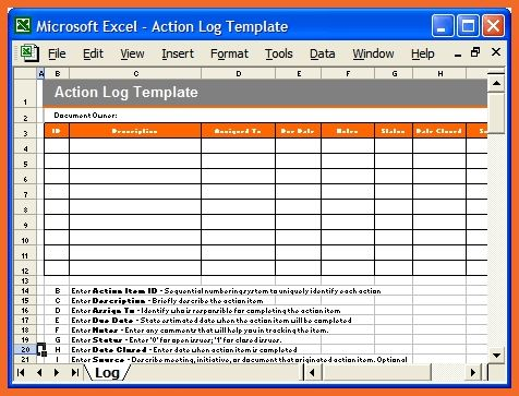 Action Item Template. Action Item Template Apa Examples. Printable ...