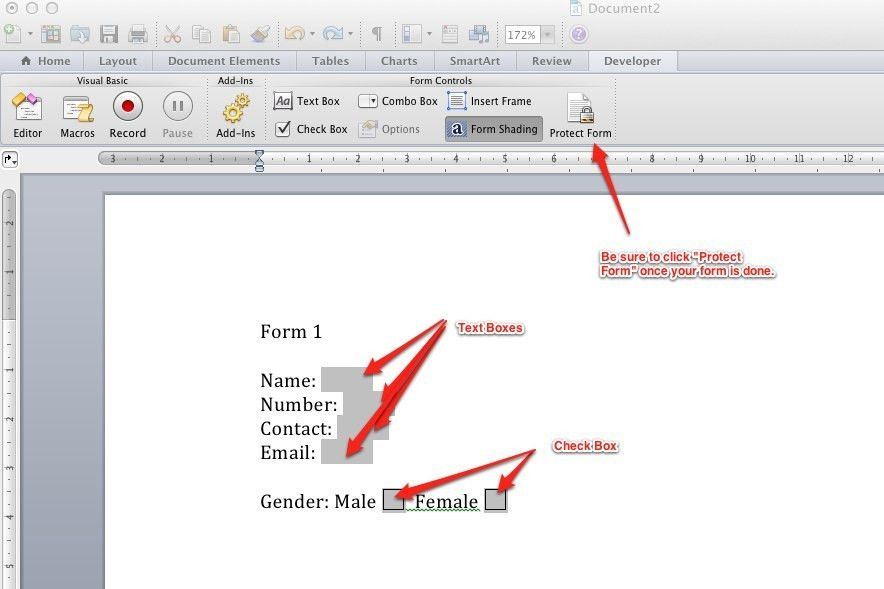 macos - How to create forms in Word 2011 for Mac - Super User