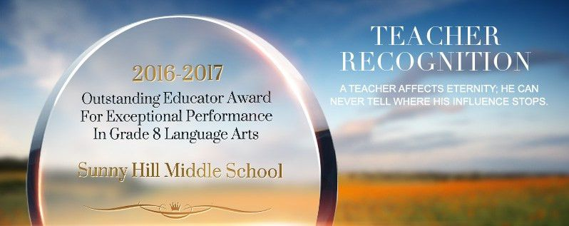 Teacher Recognition Wording Ideas and Sample Layouts | DIY Awards