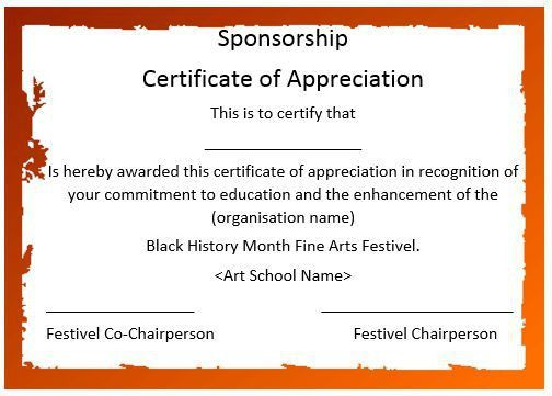 12 Elegant Certificates of Appreciation for Sponsorship : Free ...