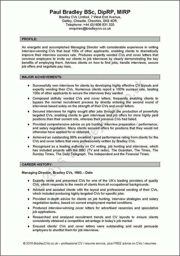 Sample personal statements for jobs