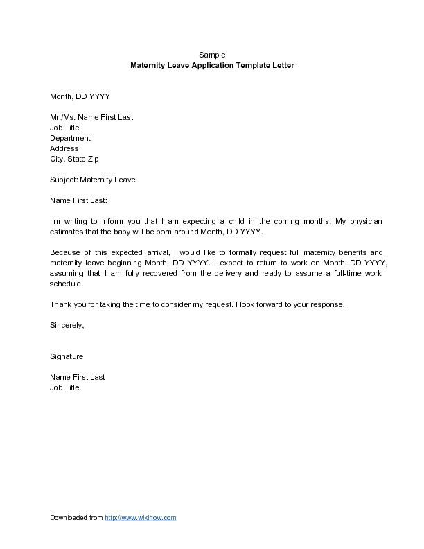Leave Request Sample, 48+ examples of formal letters #41, wildlife ...