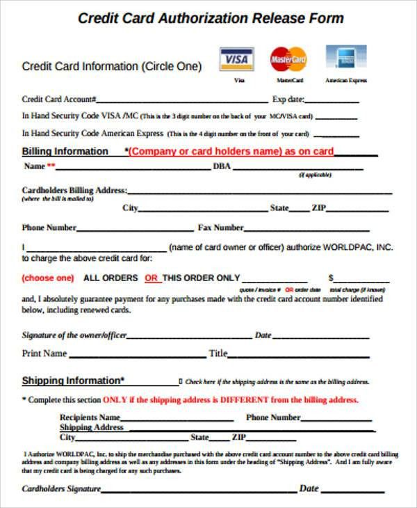 Delightful Sample Credit Release Form   6+ Examples In Word, PDF Gallery