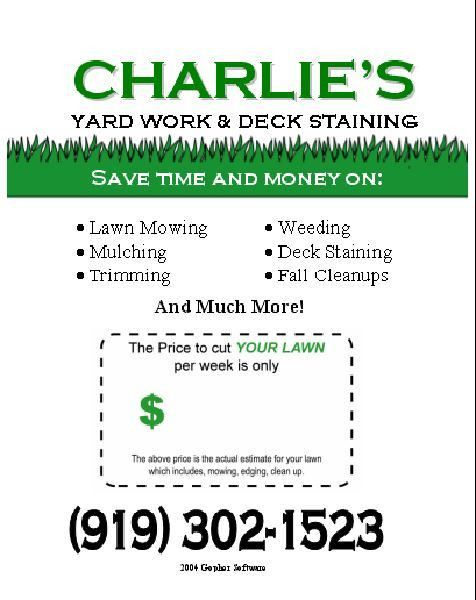 Lawn Care Flyer Free Template | the year reed and i married 1985 ...