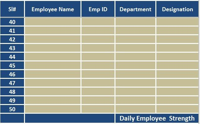 Download Employee Attendance Sheet Excel Template - ExcelDataPro