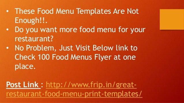 Best Food Menu Flyer Print Template