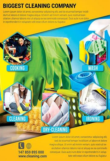 Cleaning Services – Premium Tri-Fold PSD Brochure Template – by ...