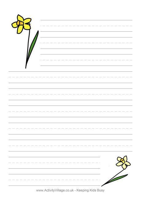 Daffodil Writing Paper