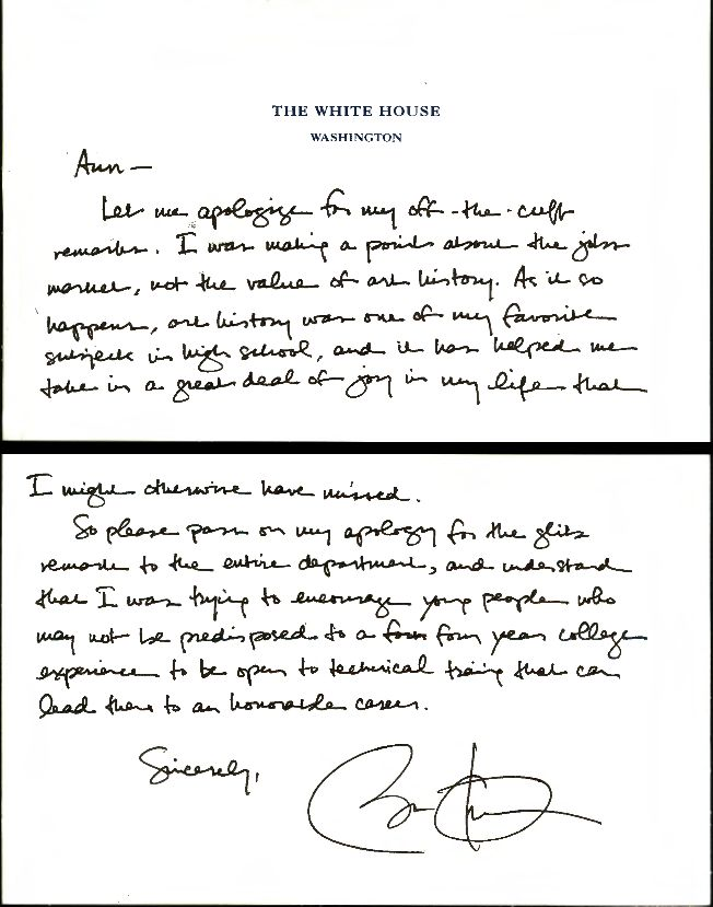 The Famous Obama Apology Note and the Truth about Art History | UT ...