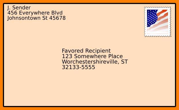 Envelope Writing Template. 9 letter envelope format resume ...