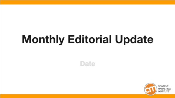 A Template to Simplify Your Editorial Reporting