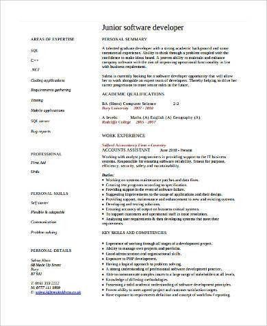 Software Developer Resumes. 3 A Resume Sample Resume Software ...