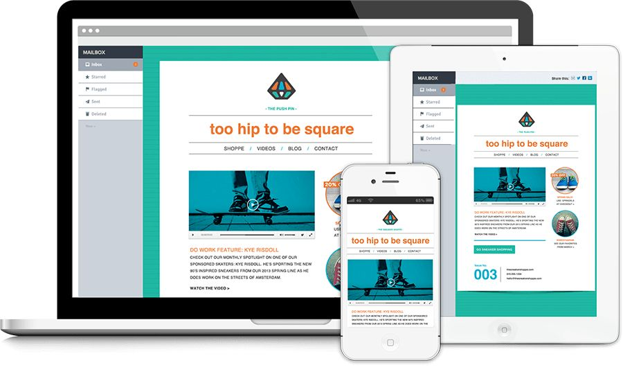 Responsive Email Marketing Templates - Responsive Email Templates ...
