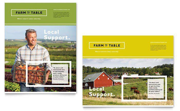 Organic Food Poster Template Design