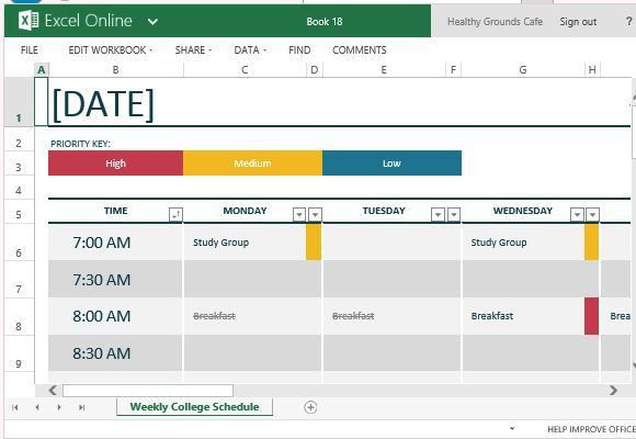 8+ Class Schedule Makers - Excel Templates