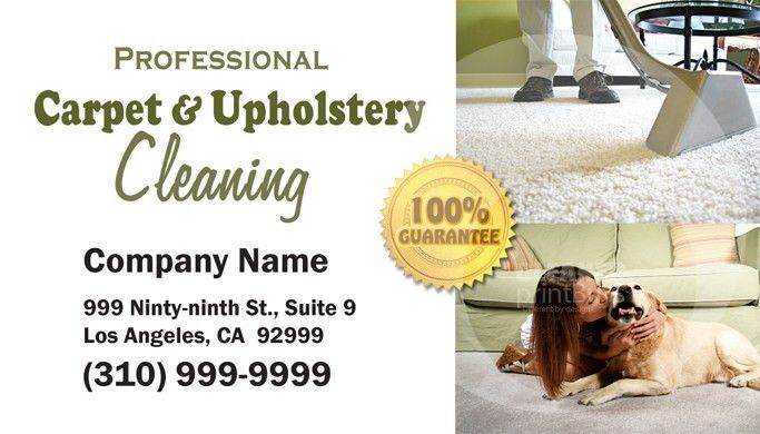 Carpet Cleaning Business Cards #C0002 (FRONT VIEW)
