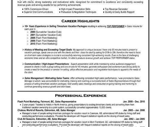Sales Professional Resume Template Free Templates for Professional ...