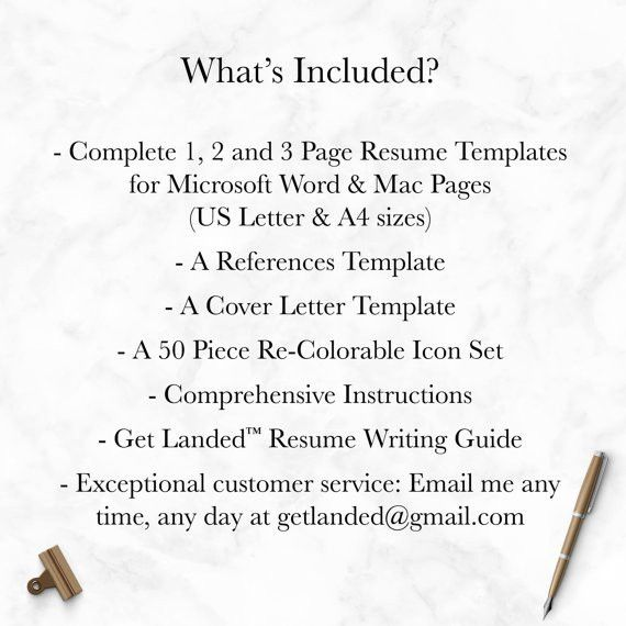 professional resume template for word and pages 1 2 and 3 - Resume Template Word Mac