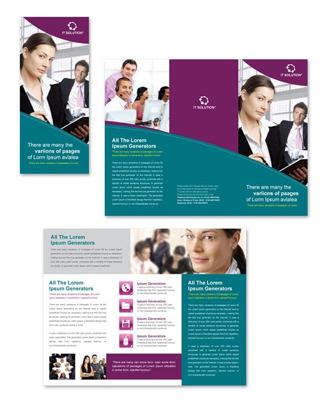 Microsoft Brochure Template. Microsoft Brochure Templates For Free ...