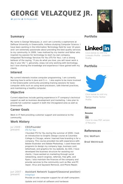 Ceo & Founder Resume samples - VisualCV resume samples database