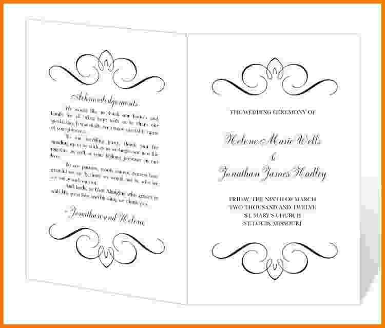 8+ free printable wedding program templates | Card Authorization 2017