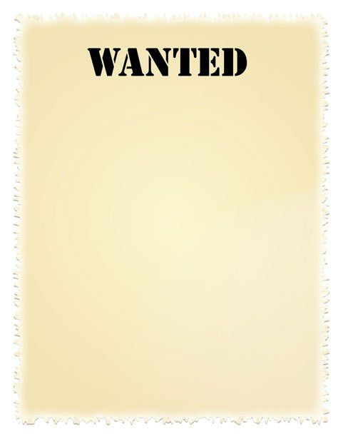 Wanted Poster Clip-art Free Stock Photo - Public Domain Pictures
