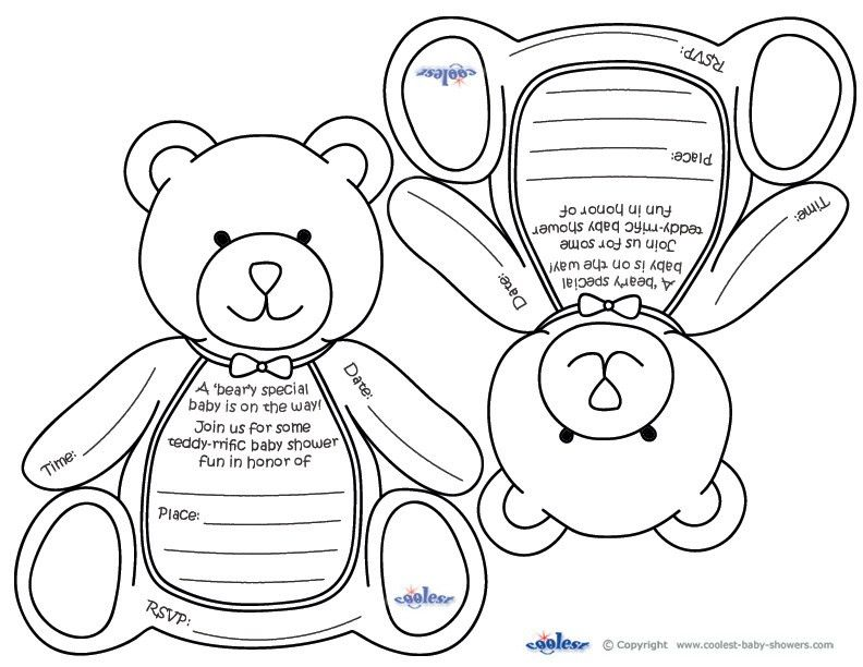 free bear invitation to print | Previous Printable Next Printable ...
