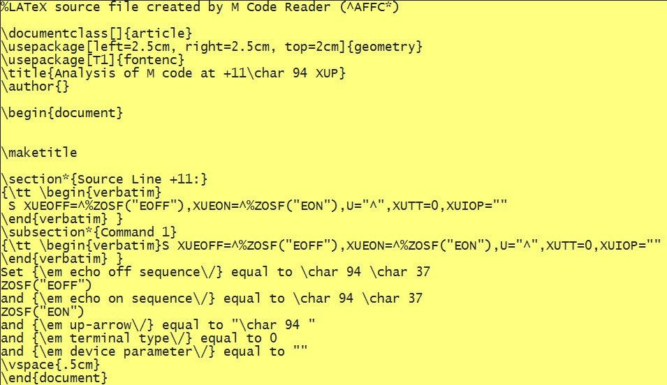 Literate Programming in MUMPS