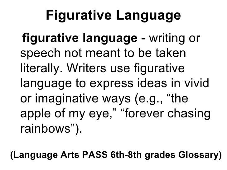 Figurative language definitions and examples