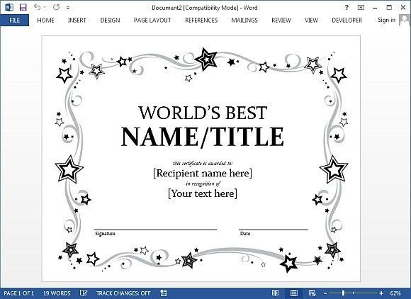 Best Certificate Templates for Word