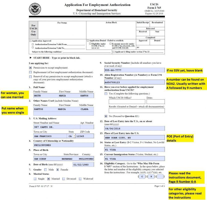I 765 Cover Letter] Image Result For Sample Cover Letter Uscis ...
