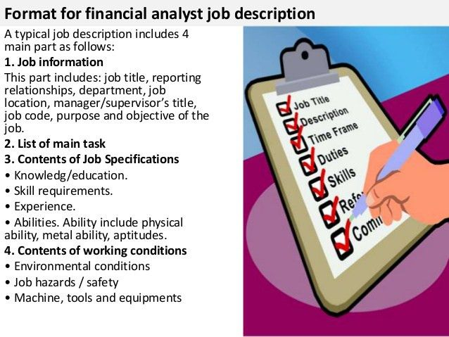 Financial Analyst Job Description. 27 Printable Data Analyst ...