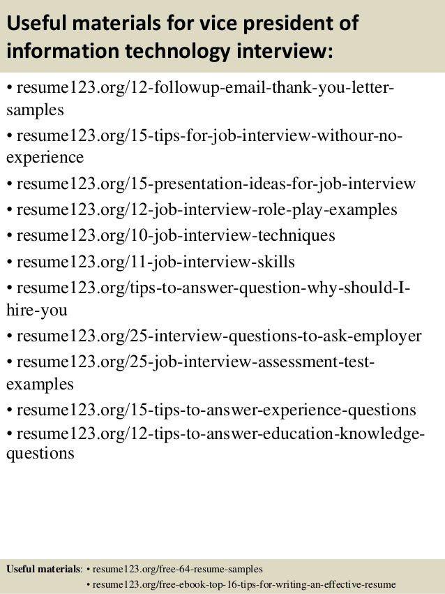 vp chief information officer resume samples. top information ...